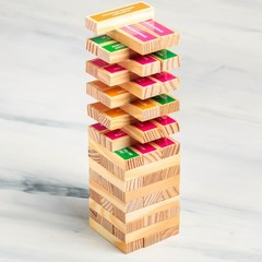 Падающая башня «Джемба» с фантами (54 бруска, дерево)