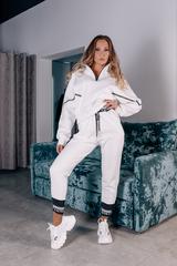 Белый спортивный костюм на флисе купить