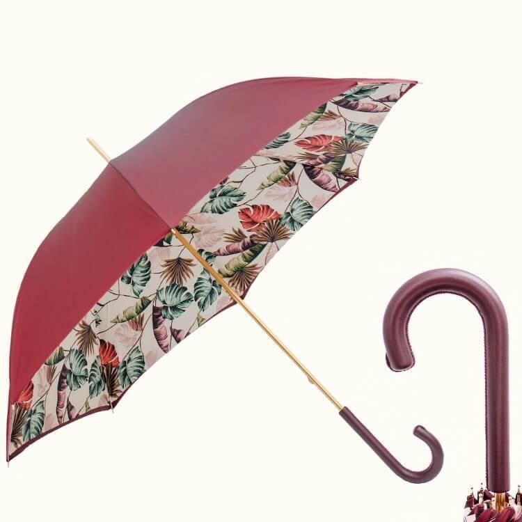 Зонт-трость Pasotti 189 9F228-6P Tropical Bordeax