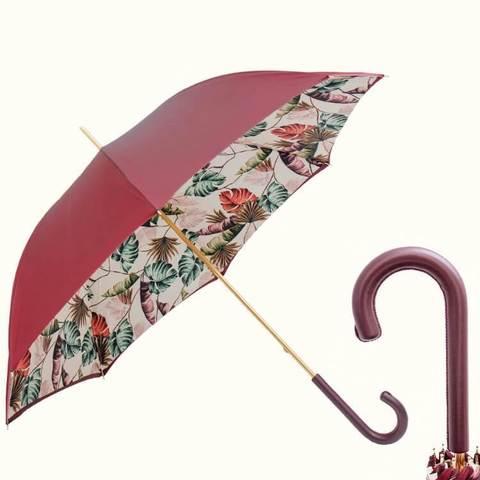 зонт-трость цвета бордо , двухслойный