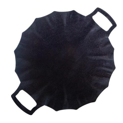 Садж ракушка из воронёной стали 40 см