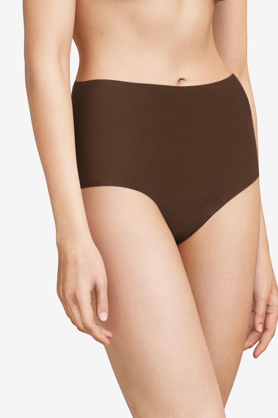 Высокие бесшовные трусы Chantelle Soft Stretch коричневый