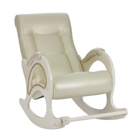 Кресло-качалка Модель 44 экокожа с лозой
