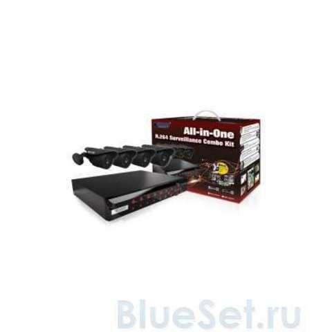 Система видеонаблюдения KGuard NS Series D1 8Ch + 4Cam (NS801-4CW214H)