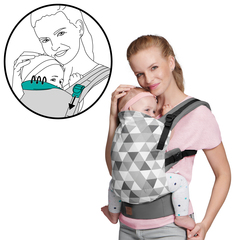 Рюкзак-переноска Kinderkraft Nino Grey