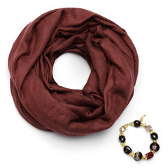 Шарф-ожерелье хлопок+кашемир