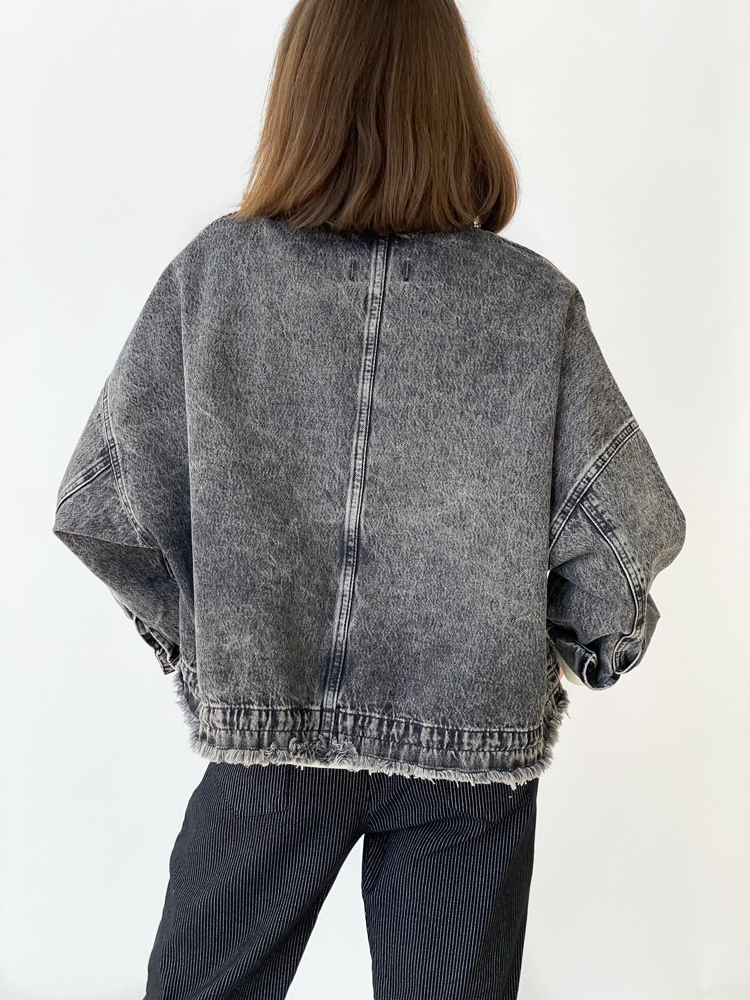 Джинсовая куртка, UNO, Freedom (серый)