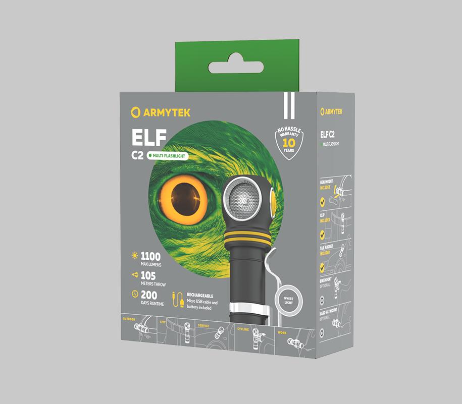 Налобный LED-фонарь Armytek Elf C2 Micro USB - фото 6