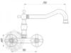 Смеситель для кухни настенный Migliore Princeton Plus ML.CUC-8052 схема