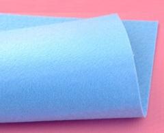 Фетр жесткий толщина 1 мм голубой