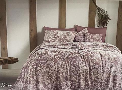 Покрывало махровое пике 2-спальное Tivolyo home FLAVIA 220х240 см лиловое