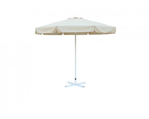 Зонт Митек Ø 2.5 м с воланом (стальной каркас с подставкой, стойка 40мм, 8 спиц 20х10мм, тент OXF 300D) порошковая краска
