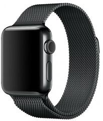 Ремешок из нержавеющей стали COTEetCI W6 MAGNET Band (WH5202-GC) для Apple Watch 40мм/ 38мм Графитовый