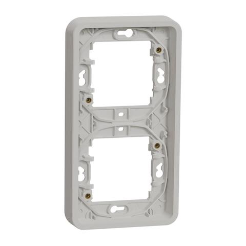 Рамка на 2 поста вертикальная. Цвет Белый. Schneider Electric(Шнайдер электрик). Mureva styl(Мурева стайл). MUR39151