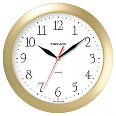 Часы настенные Troyka модель01, диаметр 290мм, пластик 11171113 золото