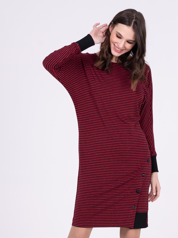 Платье З239-495 - Комфортное трикотажное платье на каждый день. Популярность подели с цельнокроеным  рукавом и силуэтом летучая мышь в том, что она  подходит практически для фигур всех типов.  Отлично скрывает возможные недостатки фигуры и подчеркивает достоинства.