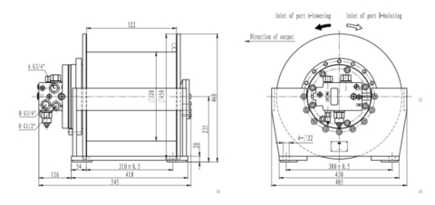 Гидравлическая лебедка IYJ2.5A-40-40-16-ZP