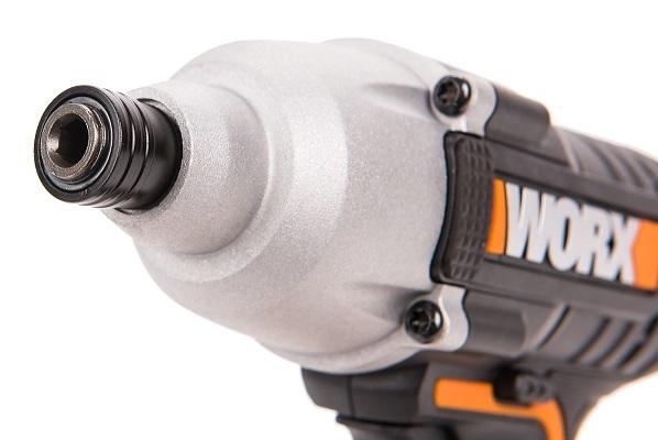 Винтоверт ударный аккумуляторный WORX WX291, 20В, 2Ач х1, кейс