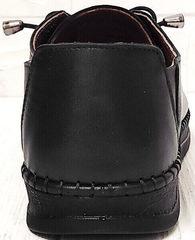 Стильные мокасины кроссовки кожаные женские smart casual стиль EVA collection 151 Black.