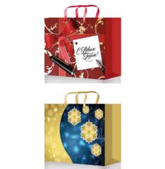 Новогодние подарочные пакеты 33х26х14 ( ламинированные, к-т 40 шт.)