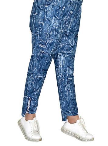 Спортивные брюки из футера Индиго