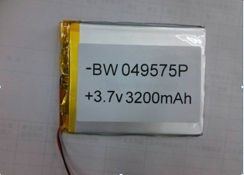 Battery 049575P 3.7V 3200mAh Lipo Lithium Polymer Rechargeable Battery (4*95*75mm) MOQ:10