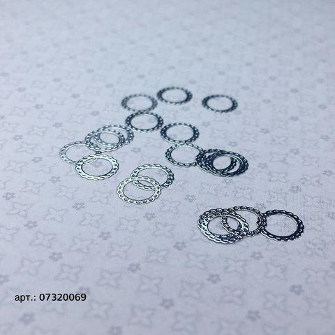 ARTEX кружевной круг серебро 0,5*0,5 см 07320069