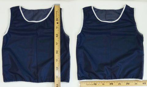 Манишка футбольная детская синяя, ткань сетка размеры