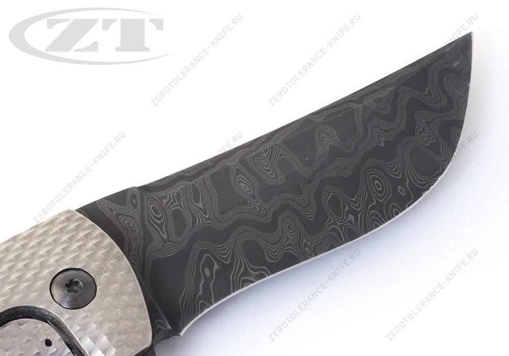 Нож Hydra Zirconium Damascus Les George - фотография