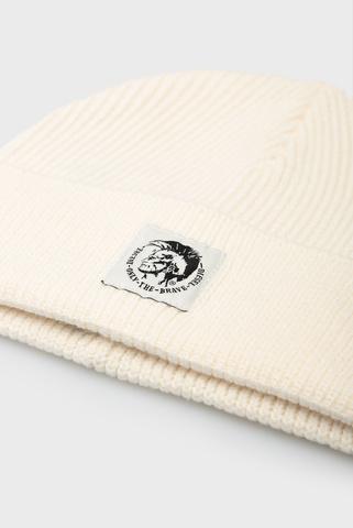 Белая шерстяная шапка K-CODER-F Diesel