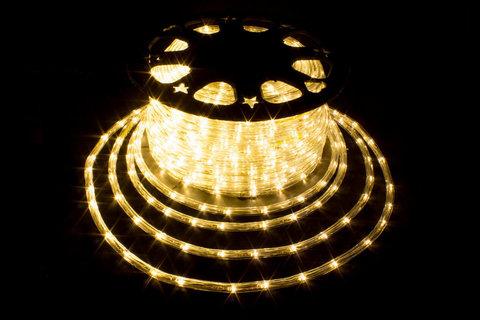 Дюралайт светодиодный, двухпроводной, круглый 11 мм, Желтый
