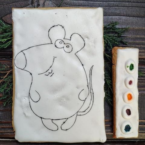 Фотография Пряник-раскраска  (Мышь), 130 г. купить в магазине Афлора