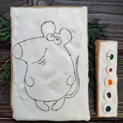 Пряник-раскраска  (Мышь), 130 г.