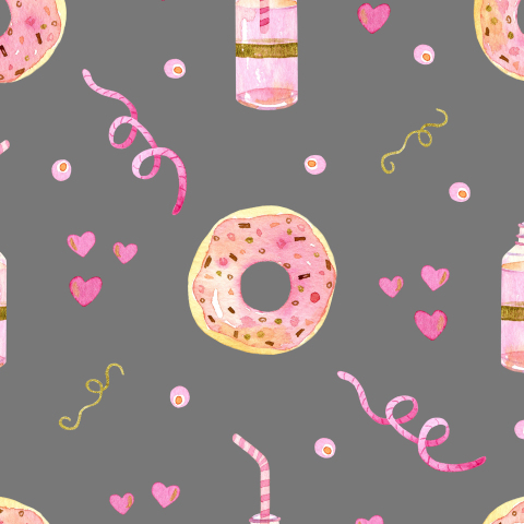 Пончики на сером фоне