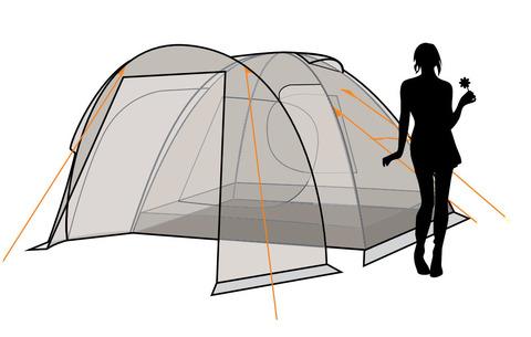 Палатка Canadian Camper RINO 3, цвет royal, схема 3.