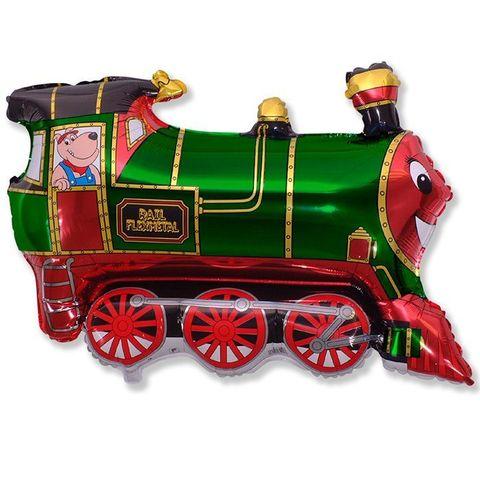 Поезд зеленый