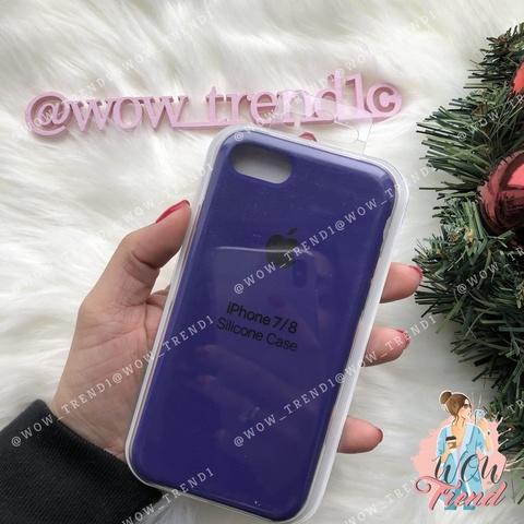Чехол iPhone SE Silicone Case /ultra violet/