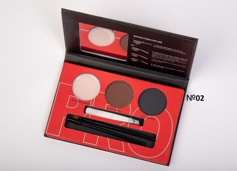 OG-EB2102 Палетка теней+воск для моделирования бровей проф. №02 Brow Professional Palette