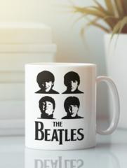 Кружка с изображением Битлз (The Beatles) белая 006