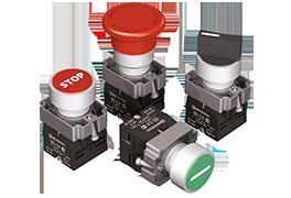 Кнопки, переключатели, джойстики, лампы в металлическом исполнении IP65 MTB2-В