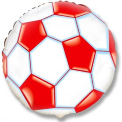 Фольгированный шар Футбольный мяч красный