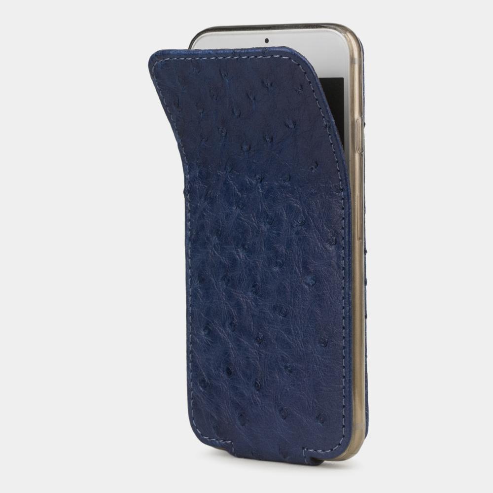 Чехол для iPhone 6/6S из натуральной кожи страуса, цвета ультрамарин