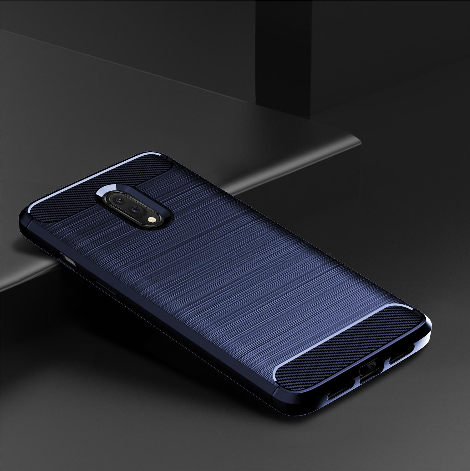 Чехол для OnePlus 7 цвет Blue (синий), серия Carbon от Caseport