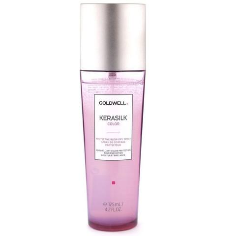 Спрей термозащитный с кератином для окрашенных волос, Goldwell Kerasilk Color Protective Blow-Dry Spray, 125 мл.