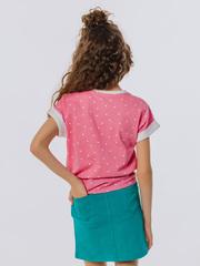Футболка розового цвета с коротким рукавом супрем купить