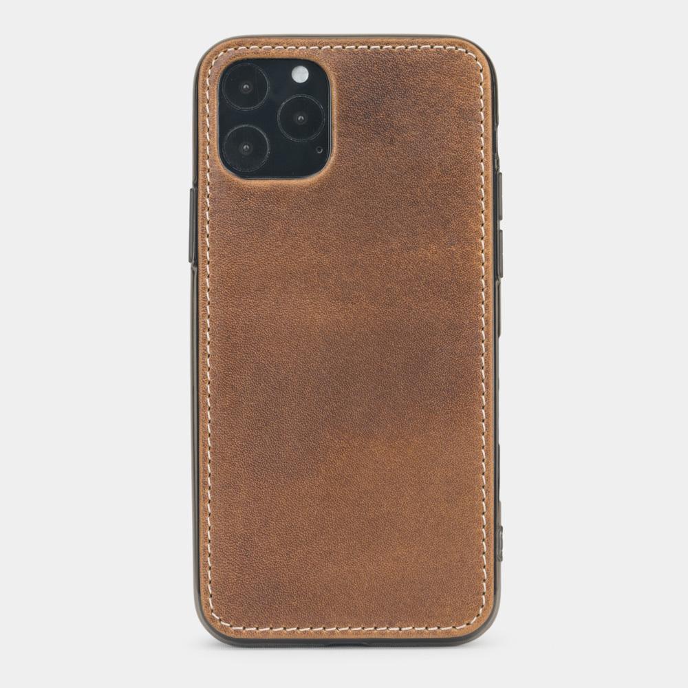 Чехол-накладка для iPhone 11 Pro Max из натуральной кожи теленка, цвета винтаж