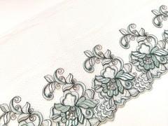 Вышивка на сетке, ПРАВАЯ, 23 см, светло-зеленый, (Артикул: VS-1030), м
