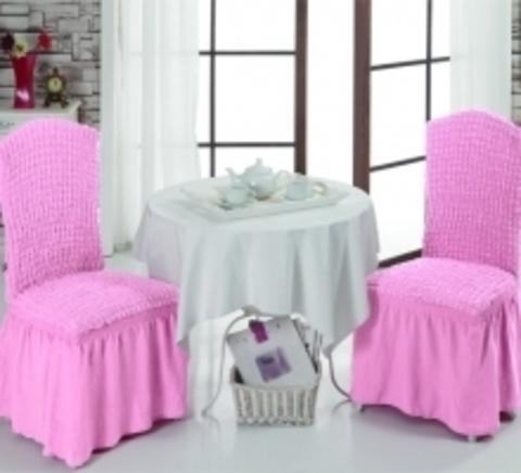 Чехлы на стулья (2 шт) цвет светло-розовый