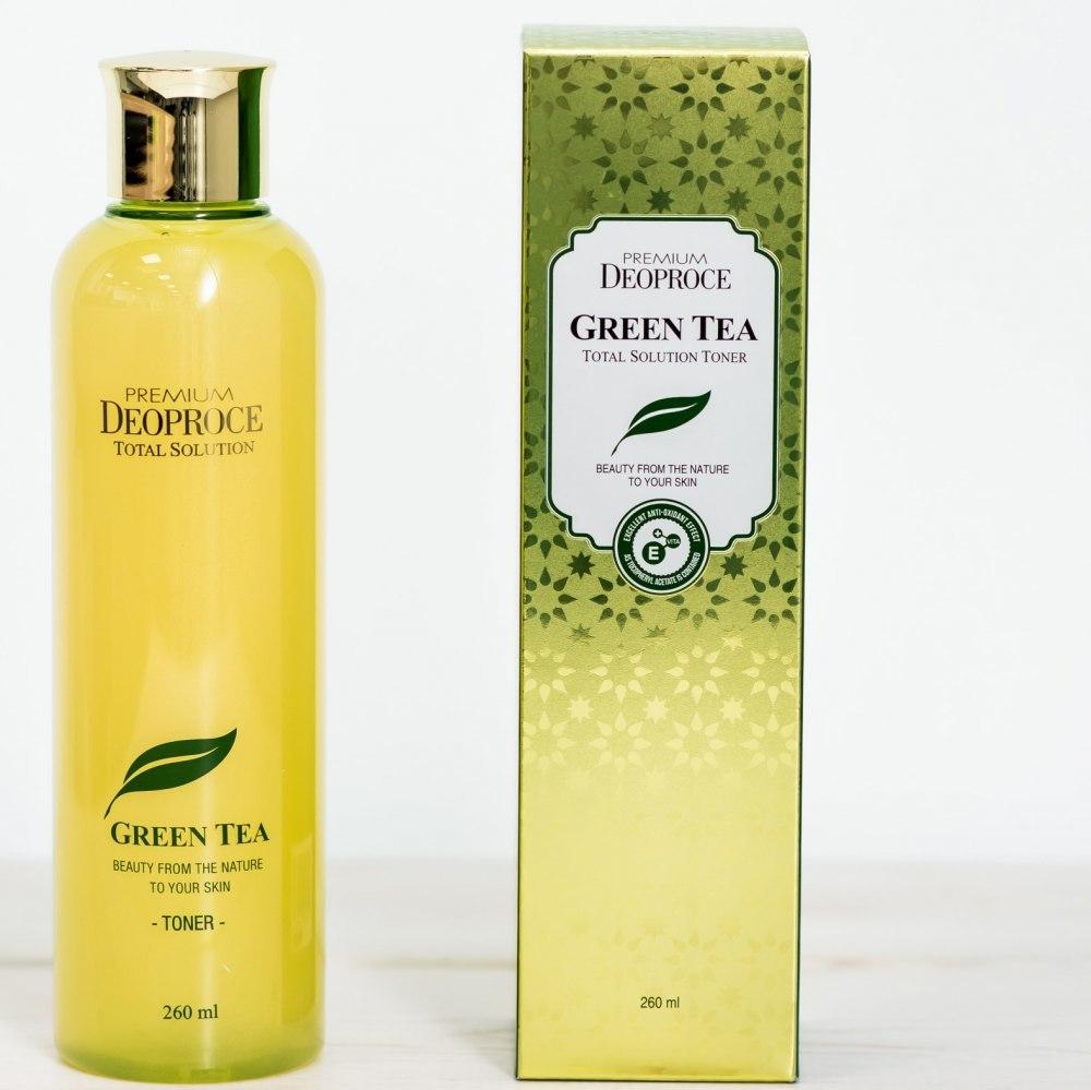 Deoproce Тонер для лица на основе зеленого чая DEOPROCE PREMIUM GREENTEA TOTAL SOLUTION TONER 260мл 15238618935cd98481458a6_original.jpg