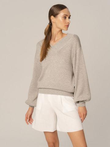 Женские шорты белого цвета из вискозы - фото 2